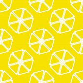 Geometric lemon texture or background. Vector