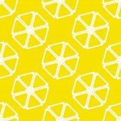 Geometric lemon texture or background. Vector