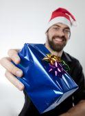 Man giving a present