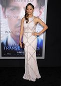 LOS ANGELES - APR 10:  Tia Mowry arrives to the 'Transcendence' Los Angeles Premiere  on April 10, 2