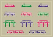 Public Transportation Icons Series
