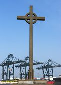 Fischermen's Cross At The Port Of Zeebrugge-seabruges.
