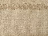 Natural Linen Texture Pattern With Fringe.abstract Background.