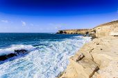 pic of canary-islands  - Beach in Fuerteventura - JPG