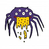 cartoon gross halloween spider