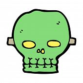 cartoon spooky skull mask