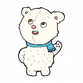 cartoon cute polar bear cub