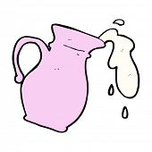 cartoon milk jug