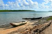 Boat On The Shore. Africa, Mozambique.