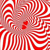Design Hearts Swirl Movement Illusion Background