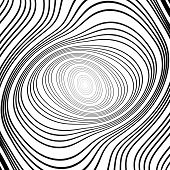 Design Monochrome Whirlpool Ellipse Movement Background