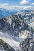 Nordkette Mountain In Tyrol, Innsbruck, Austria.