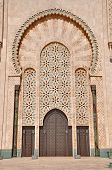 Gates Of The The Hassan Ii Mosque, Located In Casablanca Is The Largest Mosque In Morocco And The Th