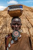 Omo Valley People - Mursi Woman With Lip Plate