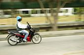Motorcycle Driving Fast