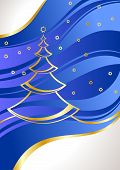image of christmas cards  - Christmas card with pine - JPG
