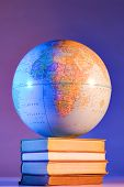 image of midterm  - Globe on books - JPG