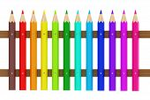 3d illustration of set colorfull pens