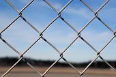 Detail Of Chain Link Fence