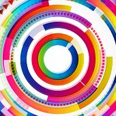 Abstract digital circles background