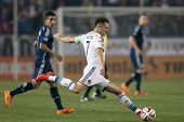 CARSON, CA - APRIL 12: Los Angeles Galaxy F Robbie Keane #7 during the MLS game between the Los Ange
