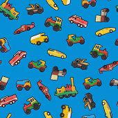 Toy Cars Seamless Texture Or Background