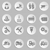 vector construction icon set