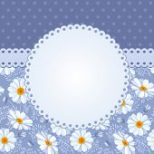 Romantic floral background with vintage flowers of daisies