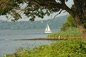 Sailboat On The Hudson River