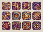 Vector Hand-Drawn decorative Valentine's day icons