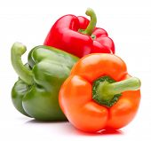 pic of peppers  - Sweet bell pepper isolated on white background cutout - JPG