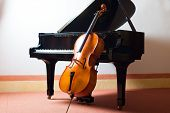 stock photo of violin  - Classical music concept - JPG