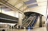 LONDON, CANARY WHARF UK - APRIL 4, 2014: Canary Wharf tube station