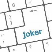 Computer Keyboard Keys With Joker