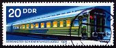 Postage Stamp Gdr 1973 Long-distance Coach, Railroad Car
