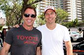 LOS ANGELES - APR 12:  Mark Steines, Michael Trucco at the Long Beach Grand Prix Pro/Celeb Race Day