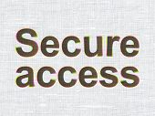 Security concept: Secure Access on fabric texture background