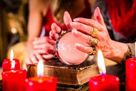 image of oracle  - Female Fortuneteller or esoteric Oracle - JPG