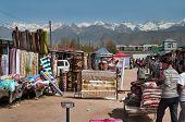 Sunday Market In Bosteri. Issyk-kul. Kyrgyzstan.
