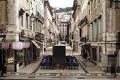 Historic Street Of The Old City Lisboa