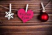 Frohes Fest In A Heart
