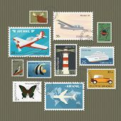 Postage stamps collection