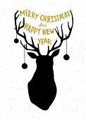 Hand drawn Christmass deer illustration