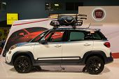 Постер, плакат: 2015 Fiat 500L At The Orange County International Auto Show