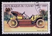 CHAD - CIRCA 1999: A stamp printed in Chad shows vintage car circa 1999
