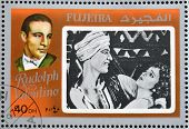 FUJEIRA - CIRCA 1972 : stamp printed in Fujeira shows actor Rudolph Valentino circa 1972