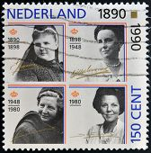 NETHERLANDS - CIRCA 1990: A stamp printed in the Netherlands shows Beatrix of the Netherlands