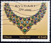 ITALY - CIRCA 2000: Stamp printed in Italy dedicated to the anniversary of the Italian brand of jewe