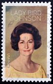 UNITED STATES OF AMERICA - CIRCA 2012: A stamp printed in USA shows Lady Bird Johnson circa 2012