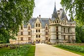 Entarnce To The Chateau Azay Le Rideau